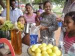 Sridevi & fam buying some mangos